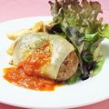料理メニュー写真トマトとチーズのイタリアンハンバーグ