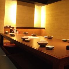 8名様までの個室席が1部屋・6名様までの個室席が一部屋ございます。