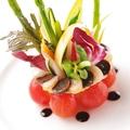 料理メニュー写真有機野菜のタルト