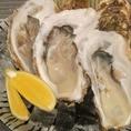 【週末限定の贅沢】南三陸直送の牡蠣を週末限定でご提供!生牡蠣、焼き牡蠣、蒸し牡蠣、お好みの食べ方でお楽しみください。写真はつるりと大粒の生牡蠣。レモンを搾ってすすりこむのが絶品です!ジュワッとあふれる濃厚な旨みは日本酒との相性も抜群。