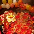 貸切PARTY時はシャンパンタワーを無料でプレゼント☆誕生日 記念日 パーティ などに是非どうぞ! 主役様が喜ぶ事間違いないです!またパーティなど8名様以上で無料でプレゼント、別途3000円でも承っています。【 心斎橋 難波 イタリアン 女子会 チーズ 誕生日 ラクレット 】