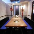 半個室の8名様用テーブル席も完備
