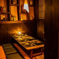 和情緒溢れる空間でプライベートなご宴会を堪能