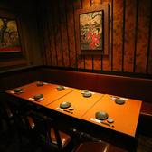 落ち着いた雰囲気のこちらのお席はどのシーンにもぴったり◎8名様までお座り頂けるので各種宴会でご利用下さい!