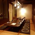 中宴会にもってこい広々とした個室で周りを気にせずおおいに盛り上がろう!!