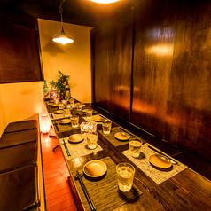 誕生日・記念日などのお祝い事にピッタリな席も◎10名様から20名様でゆったり利用できる個室席♪デザイン等にこだわった上質な空間で食べる料理は絶品。