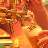 注ぎたての生ビール♪