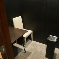 喫煙専用室を完備