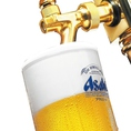 やっぱりビールでしょ!美味しい冷たい「アサヒスーパードライ」をご用意してお待ちしております。グラス・中ジョッキ・大ジョッキ・瓶ビール各種ご用意しております。アルコールが飲めない方には「アサヒドライゼロ」のご用意もございます。