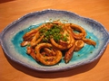 料理メニュー写真ゴーヤーちゃんぷるー/豚とろキムチ/イカのわた焼き