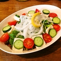 料理メニュー写真野菜サラダ/豆腐サラダ/ツナサラダ