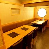 【テーブル席】使い勝手の良いテーブル席!さまざまな人数に対応。