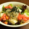 料理メニュー写真豆腐とジャコのサラダ