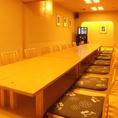 24名様まで対応可能な完全個室「うちわはっぴ」は会社宴会に◎