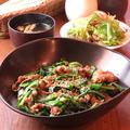 料理メニュー写真牛肉ニラ丼