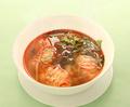 料理メニュー写真麻辣雪菜海老ワンタンスープ