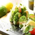 料理メニュー写真海老とサーモンの生春巻き/マグロとアボカドの生春巻き