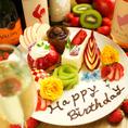 誕生日、記念日にメッセージプレートはいかがですか♪