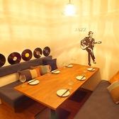 【6名様用半個室】テーマは【ジャズマン】個室にはこじゃれたジャズマンがいます。。あそび船橋自慢のこだわり半個室の1つ★「Fnabashi Base あそび船橋店」