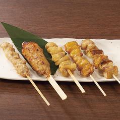 おまかせ串焼き5種盛り(タレ・塩)