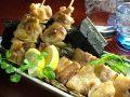 料理メニュー写真鳥串/豚串/砂肝串/レバ串/ひな皮串/軟骨串/ぽんぽち串/長ネギ串/しし唐串アラカルト