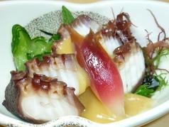 地蛸の辛子酢味噌和え