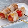 料理メニュー写真トマトの豚肉巻/うずらのベーコン巻/ししとうの豚肉巻
