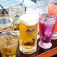 串かつと相性がいいアサヒスーパードライやプレミアム生ビール熟撰など他店では味わえない美味しいビールをご用意しております♪その他にも女性に人気のカクテル・チューハイ・梅酒、お子様やお酒の苦手な方にもお楽しみいただけるソフトドリンクがございます◎