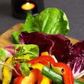 彩り鮮やかな野菜とオリジナルのバーニャカウダソースで♪