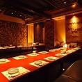 幅広い人数様に合わせた個室を用意致します。 八重洲の個室居酒屋で飲み放題のご宴会を。