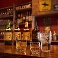 ウイスキーの種類も豊富!