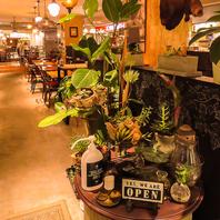 心を癒す観葉植物と、笑顔溢れるスタッフがお出迎え♪