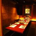 【B1階】ご家族でのお集まりにもどうぞ。 神田の個室居酒屋なら番屋でご宴会・飲み放題をどうぞ。