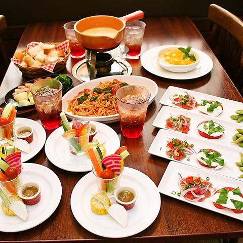 【夏宴会コース】【料理のみ】フォンデュ・フロマージュコース 4,000 円
