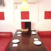 赤い照明!赤のソファー個室