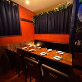 お洒落で雰囲気抜群の席です!完全プライベート空間で、お好みのテレビ番組や映像を見ながらパーティを楽しむにはうってつけの席となっております!モニター数が限られているため、非常に人気の席となっております。お問い合わせください。
