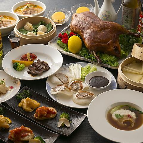 【飲み放題付】天然フカヒレ姿煮など高級食材がズラリ「豪華特選フルコース」完全個食提供♪