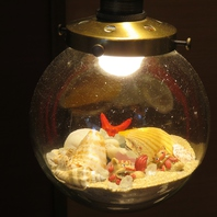 店主自ら沖縄に足を運んでいる、こだわりの琉球ガラス!