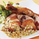 骨付き鶏腿肉のパリパリ揚げ薬味ソース