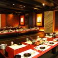 【2階】最大100名様のご宴会もお任せ下さい。 神田の個室居酒屋なら番屋でご宴会・飲み放題をどうぞ。