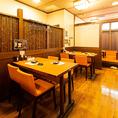 【2階】テーブル席 4名×2