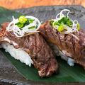 料理メニュー写真柔らか牛ハラミ 焼肉寿司
