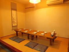 2名~12名様ご利用可能の座敷個室です。広々としたお座敷でごゆっくりおくつろぎください。