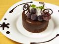 料理メニュー写真フォンダンショコラ/ホットアップルパイバニラアイス添え