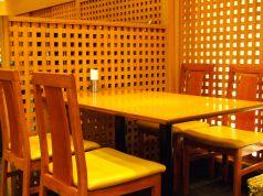 4名様がけのテーブル席です。ご家族連れや、グループのお客様には最適☆