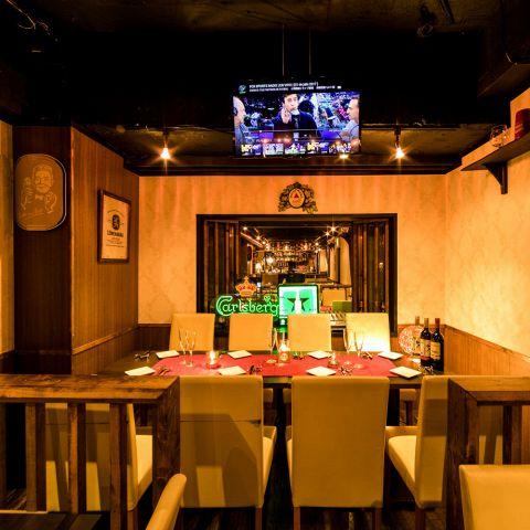 完全個室でDVDを流してサプライズ!渋谷にひっそりと佇む当店は渋谷の喧騒を忘れさるかのような上品で優雅な個室を完備しております!コースは3時間飲み放題で2480円からご用意しております。飲み会や宴会・女子会・ママ友会、肉バル宴会やチーズ宴会など渋谷で話題の肉バルダイニングで最高のひと時をお過ごしください♪