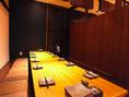 仕切って14名個室空間。和モダン&大人空間