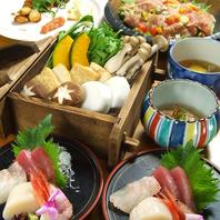 旬の鮮魚の造りや季節の野菜を使った一品に自信あり!