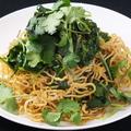 料理メニュー写真パクチーと豆腐麺