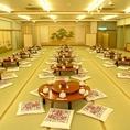 店内は最大120名様まで収容可能です。お部屋は座敷席とテーブル席をご用意。結婚式二次会や大規模宴会も承ります。